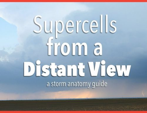Supercells from a distant view: How to tell if the storm is strengthening or not…