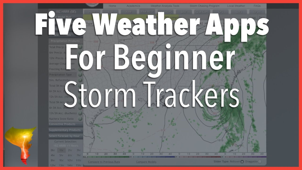 Five Weather Apps or Websites for Beginner Storm Trackers